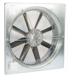 Plate-mounted axial fans