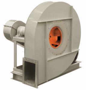 Transmission driven centrifugal fans